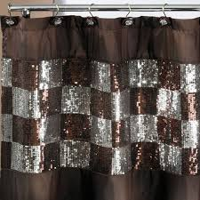 Brown And White Shower Curtains Catchy Brown And Gold Shower Curtains And Curtain Brown Fabric