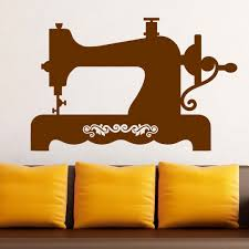 old style sewing machine vintage wall sticker world of stickers home decor large size old style sewing machine vintage wall sticker world of stickers decal