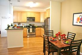 Bamboo Flooring In Kitchen Kitchen Attractive L Shape Kitchen Design Ideas With Dark Brown