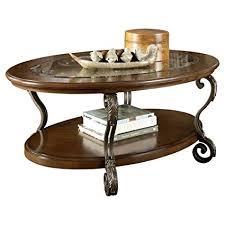 ashley furniture glass top coffee table amazon com ashley furniture signature design nestor glass top