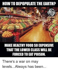 Healthy Food Meme - how to depopulate the earth make healthy food so expensive that