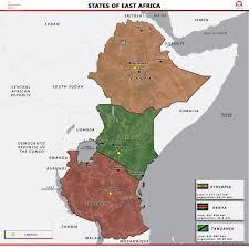 East Africa Map East Africa Polish Aid