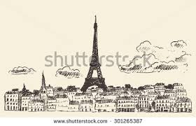 free hand drawn eiffel tower vector background download free