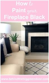 behind the big green door idea paint your fireplace black