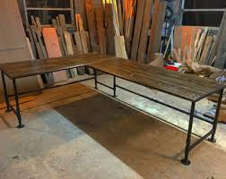 Industrial Table L L Shaped Desk Etsy