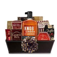bourbon gift basket buy knob creek 25th anniversary bourbon gift baskets online