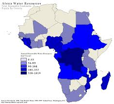 africa map by year map water resources in africa waterwiki net
