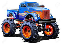 monster trucks video clips cartoon monster truck royalty free cliparts vectors and stock