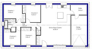 plan maison simple 3 chambres cuisine maisons lara plan maison simple 4 chambres plan