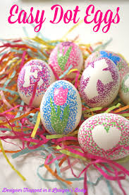 Easter Egg Decorations Diy dotted easter eggs reasons to skip the housework