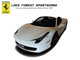used 458 spider used 2013 458 spider lake bluff il for sale in lake