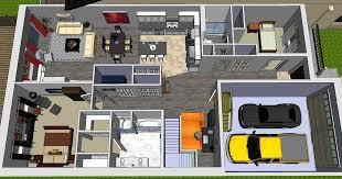 bungalow floorplans 3 bedroom bungalow floor plans open concept 3d images