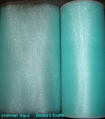teal tulle aqua shimmer glimmer tulle fabric spool roll 6 x 25 yards tutu