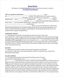 sample rental agreement form 10 free documents in doc pdf