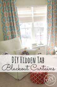 Tab Curtains Pattern Diy Tab Curtains With Blackout Fabric The Diy