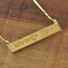 Custom Necklace Aliexpress Com Buy Hand Stamped Necklace Gold Color Personalized