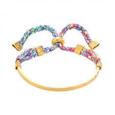gold cord bracelet images Pastel multi coloured cord slider bracelet ottoman hands jpg