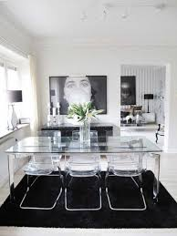 Modern Glass Wood Dining Table Plain Modern Glass Wood Dining Table Extendable Image With