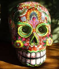 sugar skulls for sale paper mache skull using a balloon search dia de los