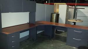 Used L Shaped Desk Used Hon 8x8 L Shaped Desks