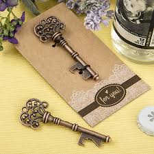 key bottle opener wedding favors copper skeleton key bottle opener wedding favors