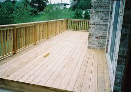 custom cedar deck portfolio rustic woodmen decks