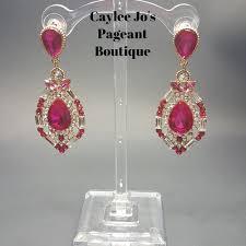 pink earrings affordable pink pageant earrings