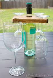 ana white diy wine bottle and glass holder featuring kristen at