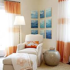 White Curtains With Blue Trim Decorating White Curtains With Orange Ribbon Trim Design Ideas