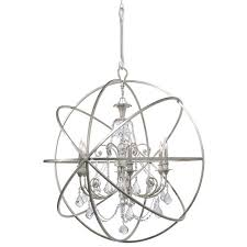 Crystal Sphere Chandelier Crystorama Crystorama Solaris 6 Light Swarovski Strass Crystal