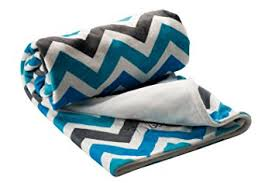 berlando chevron baby blanket blue and gray ultra
