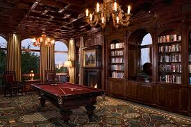 pool table wall art den room design family room traditional with parquet flooring built