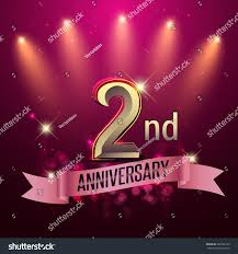 Silver Jubilee Card Invitation 2nd Anniversary Party Poster Banner Invitation Stock Vector