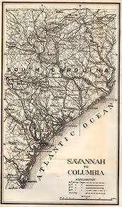 Map Of Savannah Ga General Sherman In Savannah And Pocotaligo