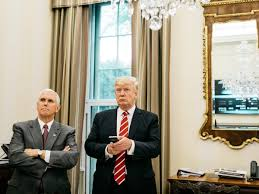 Trumps Oval Office by Trump With Pence Watches A Replay Of Senate Hearings From A