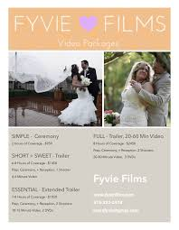 Wedding Videography Prices Packages