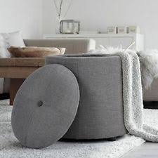 Button Tufted Ottoman Storage Ottoman Beige Upholstered Button Tufted Foot Stool