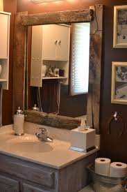 style superb distressed wood framed bathroom mirrors image of