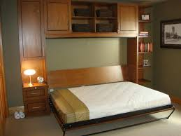 murphy bed twin size with cabinet and side table decofurnish