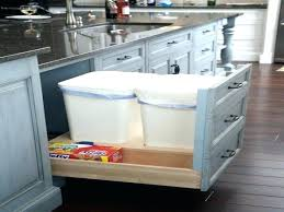 Wooden Kitchen Garbage Cans by Trash Can Kick Into Pool Medium Image For Trash Can Bag Holder