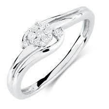 white gold promise rings ring with 1 8 carat tw of diamonds in 10kt white gold