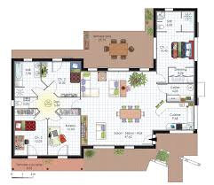plan de maison en v plain pied 4 chambres plan maison en v pour faire construire sa maison plans maisons