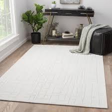 Area Rugs 9 X 12 Juniper Home Eline Abstract White Cream Rayon Area Rug 9 U0027 X 12