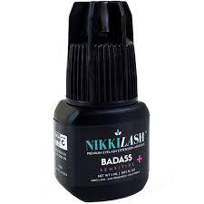amazon com nikkilash badass sensitive eyelash extension glue