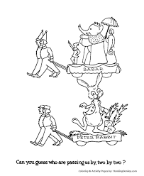 christmas parade coloring pages babar u0026 peter rabbit christmas