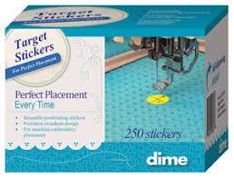 dime target stickers 250 pack for perfect embroidery placement at