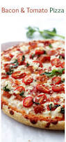 soft homemade pizza crust topped with bacon goat cheese and