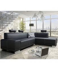 canapé angle droit en tissu savanah noir et pvc viper dya des canapés pas chers pour votre maison dya shopping fr