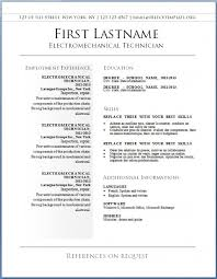 Free College Resume Template Easy Free Resume Template Resume Template And Professional Resume