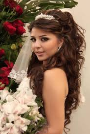 wedding hairstyle for long curly dark hair
